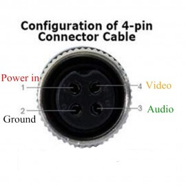 iCustodian® CCTV 4 PIN Aviation cable with Video, Audio and DC Power.