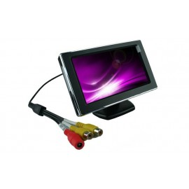 "iCustodian® High Quality 5"" Inch Digital CCTV LCD Dual Display"