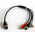 iCustodian® PIN Aviation Female to 4 PIN Aviation male Video, Audio and DC Power Cable.