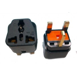 X10 Fused Universal AU/EU/US to UK 3-Pin Power Plug Travel Adapter